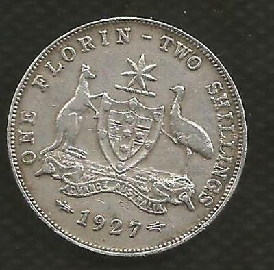 1927 Florin - *george V*- Very Fine - Full Centre Diamond