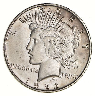 Early - 1922 - Peace Silver Dollar - 90% US Coin *111