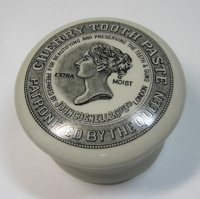 Antique Cherry Toothpaste Pot Patronized by the Queen John Gosnell