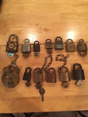 Old Vintage Brass USN Navy Locks Padlock W/ Key