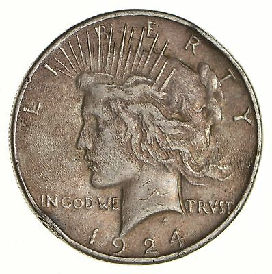 Early - 1924 - Peace Silver Dollar - 90% US Coin *113