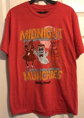 General Mills Monster Cereal Count Chocula Franken Berry Boo Berry Shirt S/M