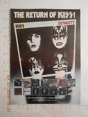 1979 The Return of KISS Dynasty LP covers AD Gene Simmons Paul Stanley ACE Criss