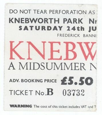 Genesis Brand X Jefferson Starship Devo Tom Petty 6/24/78 Knebworth Ticket Stub!