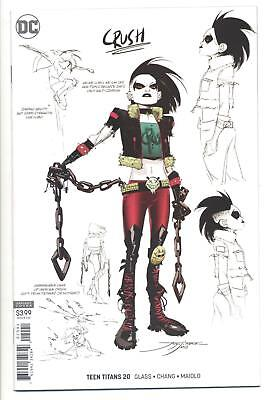 TEEN TITANS #20 1/25 VARIANT CRUSH CONCEPT ART VARIANT 1st APPEARANCE CRUSH (VF)