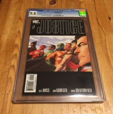 Justice (2005) #1 (3rd, third) CGC 9.8 NM/MT, JLA, Alex Ross, top census!
