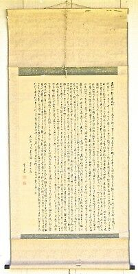 Vintage Chinese Hanging Scroll (II) Brush Painting of Writing