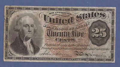 1874-1876 4th Issue 25¢ Fractional Currency,FR.1303,Washington Bust,VF,Nice!