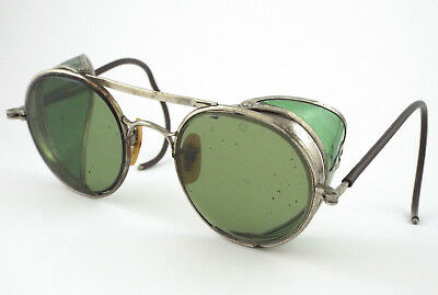 1930-40s - RARE Bausch & Lomb STEAMPUNK SAFETY GOGGLES / SUNGLASSES