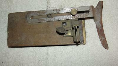 Antique Rounding Jack Brim Cutter Gauge Hatters Tool for Making Millinery RARE