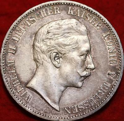 1907 Germany 5 Marks Silver Foreign Coin