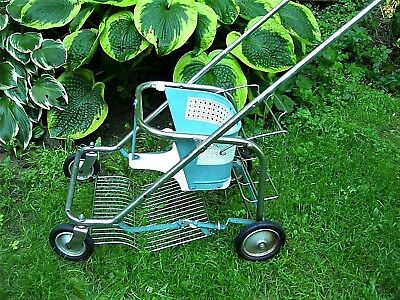 1950's FOLDING TAYLOR TOT STROLLER ~ WOOD & METAL  LIGHT WEIGHT EASY STORAGE HTF
