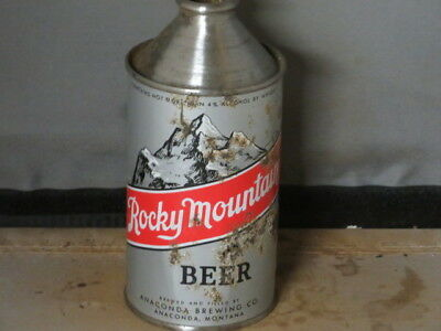 Rocky Mt Beer. Colorful Montana. Cone Top