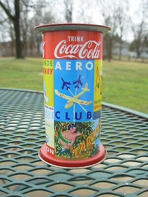 Vintage Coca-Cola /Coke Tin Advertising Bank~Western Germany w/ Key & Tags~TRINK