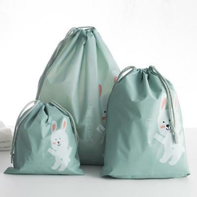 3xTravel Pouch Bag Portable Makeup Drawstring Waterproof Bags Storage BS