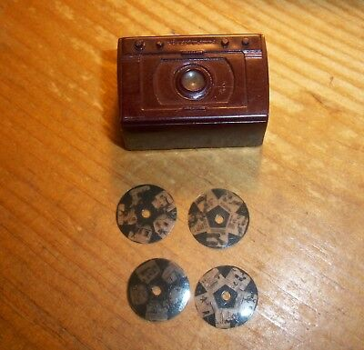 Tom Mix RCA Victor Miniature TV disc viewer with 4 discs