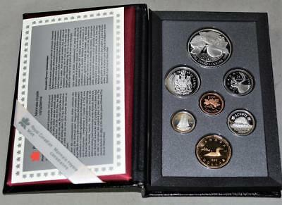 Canada 1996 Sterling Silver Proof Set - With John McIntosh 200th Silver Dollar