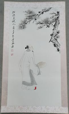 Excellent Chinese Hand Painting & Scroll figure By Zhang Daqian 张大千