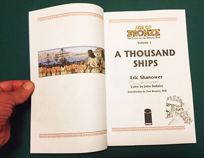 Eric Shanower signed with original sketch A THOUSAND SHIPS now in full-color!