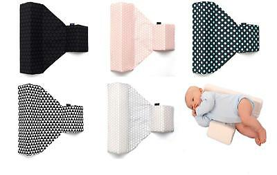 Newborn Baby Sleeping Pillow Cot Bed Two Wedge Anti Roll Pad Cotton