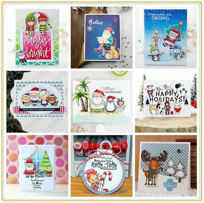 Merry Christmas Clear Stamp Transparent Stempels Silicone Seal Scrapbook Craft