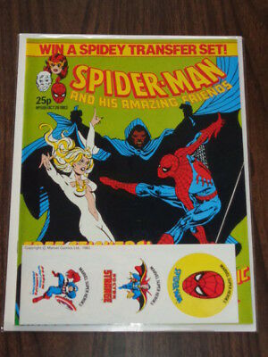 Spiderman British Weekly #555 1983 October 26 Marvel With Free Gift