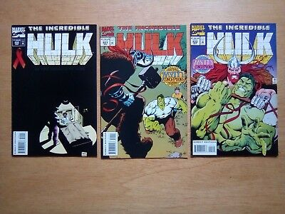3 Issues Of Incredible Hulk #420,421,422  Marvel Comics 1994
