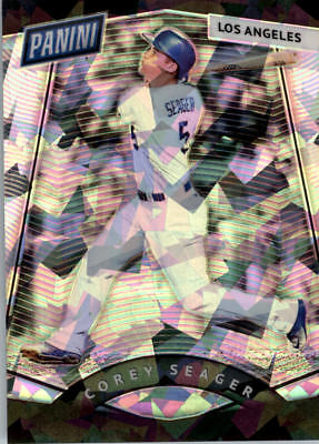 2017 Panini National Convention Vip Prizm Cracked Ice #67 Corey Seager Bb /25