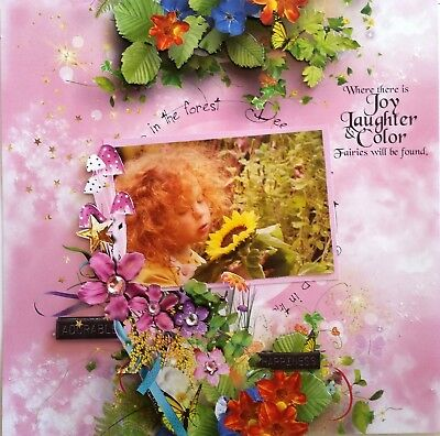 12 x 12 Handmade Scrapbook Page - Where there is Joy, Laughter & Color....
