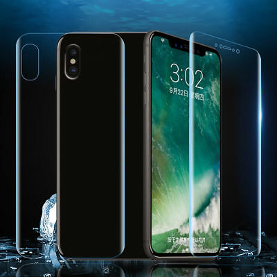 Front Back Hydrogel Screen Protector Film For Apple iPhone XS Max XR 8 7 Plus