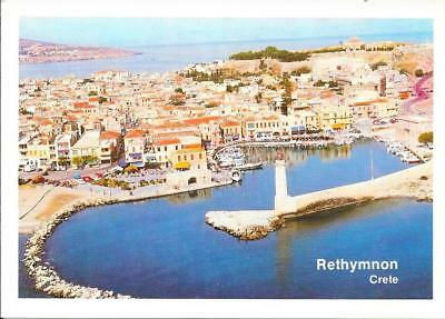 Rethymnon, Greece - Aerial View - Unposted Postcard