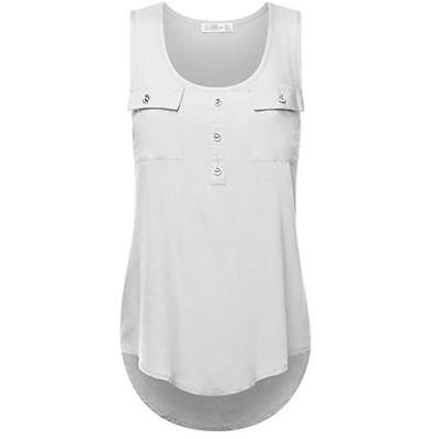 Womens Ladies Backless Sleeveless Loose Tank Vest Cami Top Summer T Shirt BS