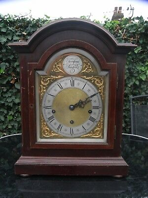 Late 19th Early 20th Century Large Bracket Clock Westminster Chimes / Mantle