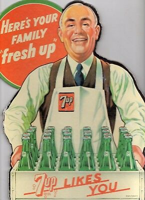 1940's 7 Up counter Sign