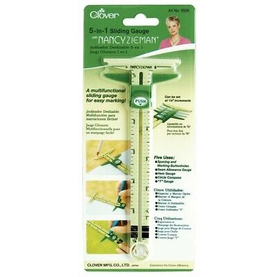 Clover 9506 5 In 1 Sliding Gauge With Nancy Zieman - 5in Sewing
