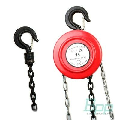 1 Ton 1000 Kg Chain Hoist Tackle Engine Heavy Duty Lifting Pulley Winch