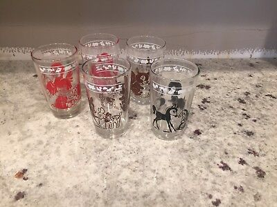 Set of 5 Animal Swanky Swigs Juice Glasses~Vintage Kraft