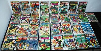 1979-84 Marvel Invincible Iron Man #129-193 Fn/vf To Nm Lot Of 33 High Grade L10