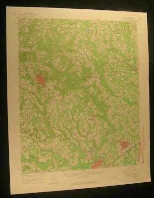 Selma North Carolina Clayton Powhatan 1965 vintage USGS original Topo chart map
