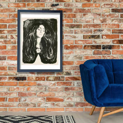 Edvard Munch - The Brooch. Eva Mudocci Wall Art Poster Print