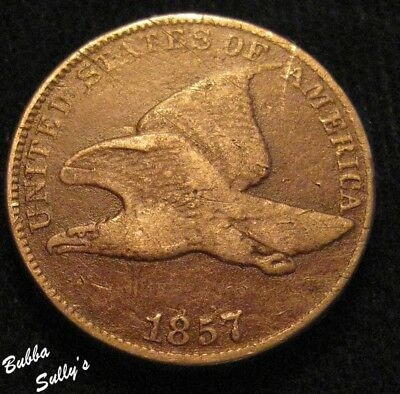 1857 Flying Eagle Cent <> F Details