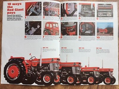 Massey Ferguson Tractor Advert Brochure - Red Giants 130 135 165 175