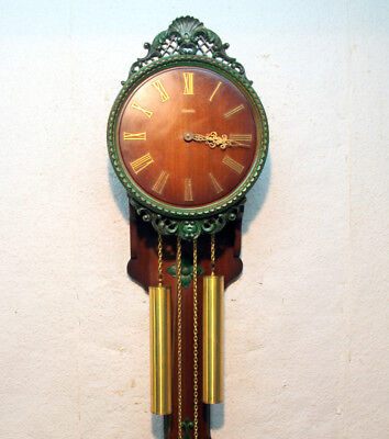 *Old Wall Clock Regulator 2 Weights Chime Clock* HERMLE- LARGE CLOCK