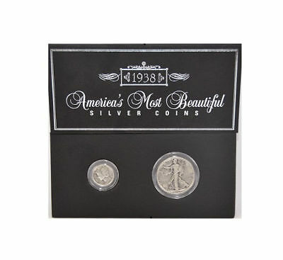 Genuine US Coins America's Most Beautiful Silver Coins: 1938 Half Dollar & Dime
