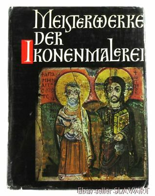 BOOK Medieval Icon Painting Masterpieces Byzantine Russian Greek antique old art