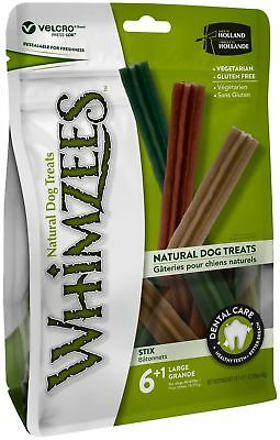 Whimzees Stix Large 7 Pack - Vegetarian Gluten Free Dog Chews Treats