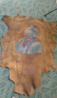 cheyenne chief wolf robe on skin. All pictures are of the front. Back is blank