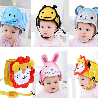 FJ- Infant Baby Walking Anti-collision Head Protective Safety Helmet Great