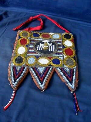 Antique Yoruba Beadwork Divination Panel 19th Century. Africa, Nigeria