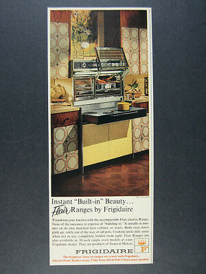 1966 Frigidaire FLAIR Range Double-Oven Sliding Cooktop photo vintage print Ad